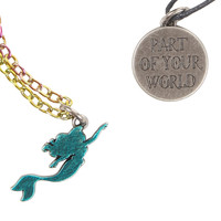 Disney The Little Mermaid Part Of Your World Layer Necklace Set