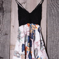Fancy Backless Floral Rompers