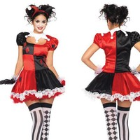 Fantasy Women Carnival Harley Quinn Cosplay Costume Party Skirts Halloween Fantasias Women CO50160