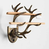 4040 Locust Antler Toothbrush Holder