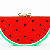Fruit Acrylic Bridal Club Evening Clutch