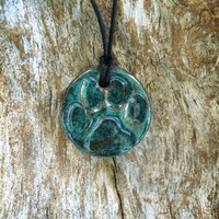 Paw Print Diffuser Necklace |  Essential Oil Diffuser |  Dog Lover Necklace |  Aromarherapy Pendant