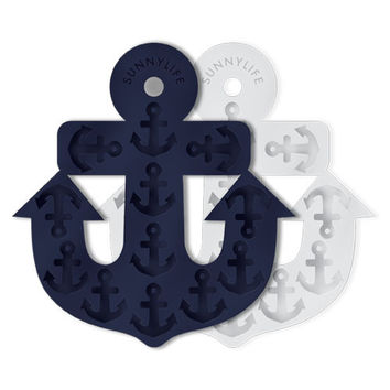 SUNNYLIFE - Anchor Ice Tray | Navy & White
