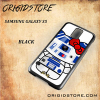 R2D2 Star Wars Hello Kitty Black White Snap On 3D For Samsung Galaxy S5 Case