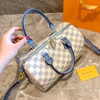 LV 2019 new classic Neverfull female pillow bag handbag Messenger bag Blue