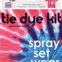 SEI 131093 Tumble Dye Craft And Fabric Dye Kit-Girly Girl-Purple-Pink-Magenta