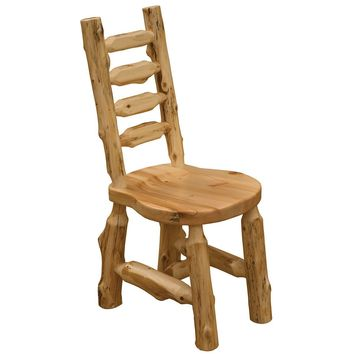 Cedar Bistro Ladder-back Log Side Chair