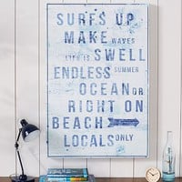 Surfs Up Distressed Sentiments Wall Art