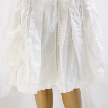 White Cotton & Lace Vintage Skirt