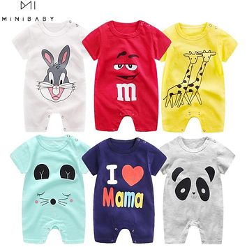 2020 Cheap cotton Baby romper Short Sleeve baby clothing
