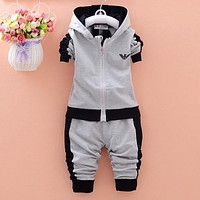 Baby Clothing Set Long Sleeve Baby Boys Set Autumn Winter Hooded Sweatshirts+Pant Baby Boy Clothing Sport Kid Clothes Suit