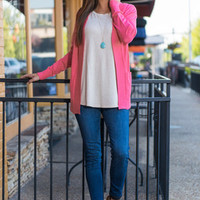 Every Other Day Cardigan, Coral