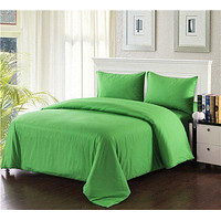 Tache Cotton Spring Green Comforter Set With Zipper