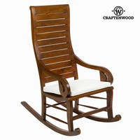 Teak rocking chair with cushion by Craften Wood