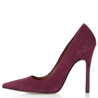 GALLOP Court Shoes - Deep Berry
