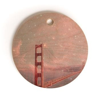 Bianca Green Stardust Covering San Francisco Cutting Board Round