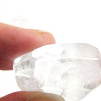 Clear Chunky Crystal Quartz Bead