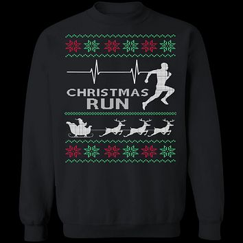 Running Ugly Christmas Sweater