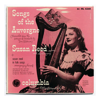 "Alex Steinweiss record album design, 1951. ""Susan Reed: Songs of the Auvergne"" LP"