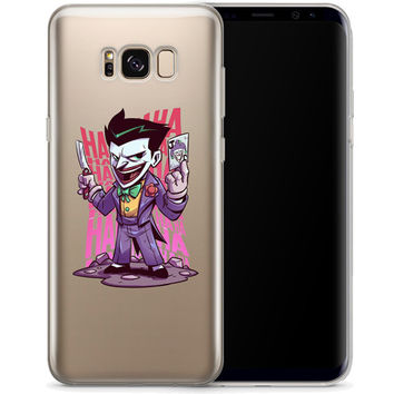 The Joker (animated) Jelly Clear Case for Samsung Galaxy S8 PLUS