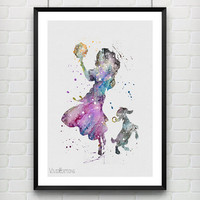 Esmeralda Poster, The Hunchback of Notre Dame Disney Watercolor Art Print, Kids Roomn Decor, Gift, Not Framed, Buy 2 Get 1 Free! [No. 164]