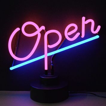 Open Neon Sculpture