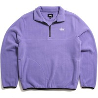 Basic Polar Fleece Mock Violet