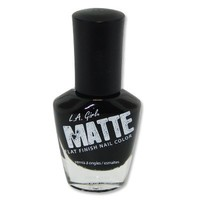 L.A. Girl Matte Finish Nail Polish NL537 Matte Black