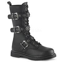 Bolt 330 Goth Buckle Strap Combat Biker Boots Black Matte Men Sizes 4-14
