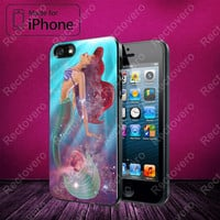 Ariel The Little Mermaid on Galaxy Nebula case for iPhone 5, 5S, 5C, 4, 4S and Samsung Galaxy S3, S4