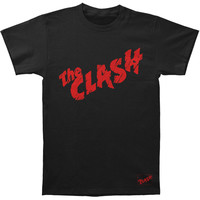 Clash Men's  First Album Logo T-shirt Black Rockabilia