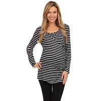 Bethany Nautical Striped Nursing Top