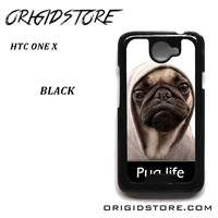 New Design Funny Hilarious Pug Life Parody Fans For HTC One X Case Please Make Sure Your Device With Message Case UY