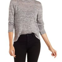 High Neck Hacci Tee by Charlotte Russe