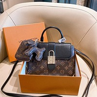 Louis Vuitton LV Fashion Western Style Three-piece Handbag