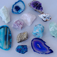 Gemstone & Crystal Magnet Set
