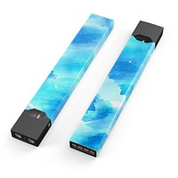 Abstract Blue Stroked Watercolour - Premium Decal Protective Skin-Wrap Sticker compatible with the Juul Labs vaping device