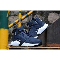 Huarache X Acronym City Mid Leather Navy/white Sneaker Shoes | Best Deal Online