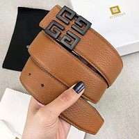 Samplefine2 Givenchy Fashion New Pattern Buckle Leather Women Men Leisure belt With Box