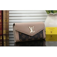 Louis Vuitton LV Trending Women Stylish Leather Wallet Purse Apricot