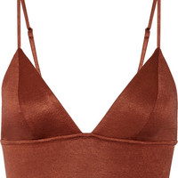 Fleur du Mal - Stretch-jersey soft-cup triangle bra