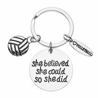 Volleyball She Believed She Could So She Did Keychain