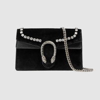 Gucci Dionysus velvet super mini bag with crystals