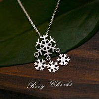 Jewelry Shiny Gift New Arrival 925 Silver Stylish Simple Design Christmas Lock Pendant Necklace [6057515201]