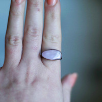 Amethyst Ring Raw Stone Ring Crystal Ring Raw Amethyst Birthstone Ring Purple Stone Ring Handmade Artisan Copper Ring Cocktail Ring Size 7.5