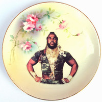 $42.00 Sergeant Bosco Portrait  Plate  Altered Antique by BeatUpCreations
