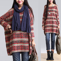 women cotton sweater plus sze blouse