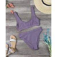 Dippin' Daisy's Sporty Swim Top + Banded High Waist Cheeky Bottom Bikini Separates - More Colors