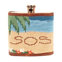Three Hour Tour Needlepoint Flask by Smathers & Branson