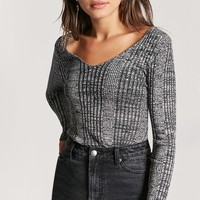 Marled Ribbed Sweater